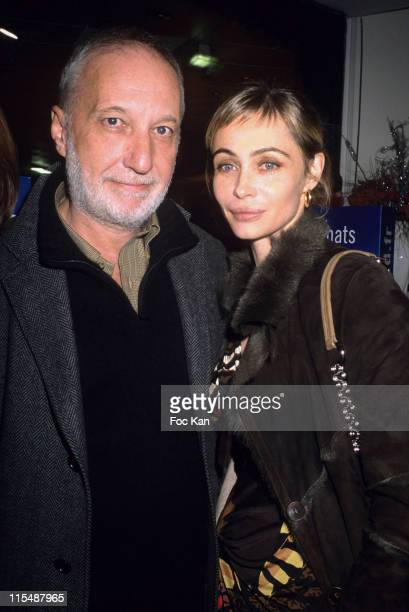 Francois Berleand and Emmanuelle Beart during Marionnaud and Keep Lucky Auction Bnefit Cocktail Party for UNICEF Reves and Paris Tout Petits Children...