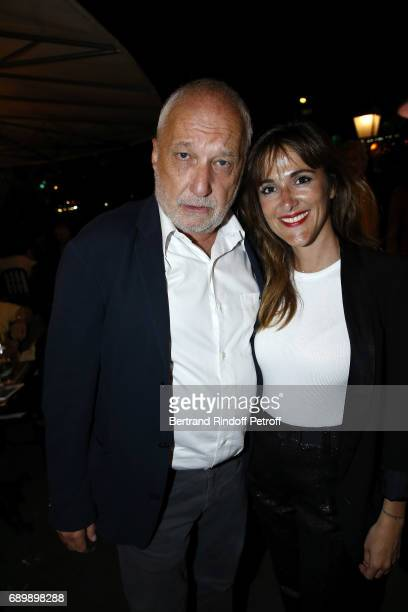 Francois Berleand and Victoria Bedos attend the Dinner of 'La Nuit des Molieres 2017' at la Closerie des Lilas on May 29 2017 in Paris France