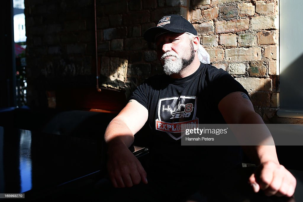 Francois Botha of South Africa poses for a photo following a press conference with New Zealand boxer Joseph Parker at the Northern Steamship Bar on April 8, 2013 in Auckland, New Zealand. Parker will fight Botha in 8 x 3 minute rounds on Thursday 13 June in Auckland.
