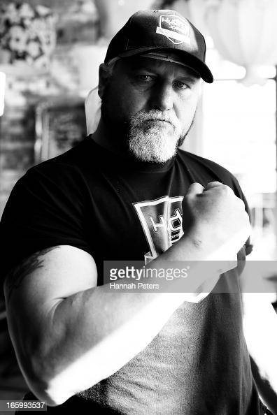 Francois Botha of South Africa poses for a photo following a press conference with New Zealand boxer Joseph Parker at the Northern Steamship Bar on...