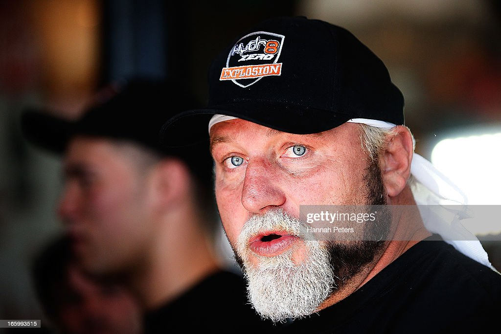 Francois Botha of South Africa talks to the media following a press conference with New Zealand boxer Joseph Parker at the Northern Steamship Bar on April 8, 2013 in Auckland, New Zealand. Parker will fight Botha in 8 x 3 minute rounds on Thursday 13 June in Auckland.