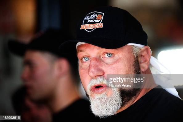 Francois Botha of South Africa talks to the media following a press conference with New Zealand boxer Joseph Parker at the Northern Steamship Bar on...