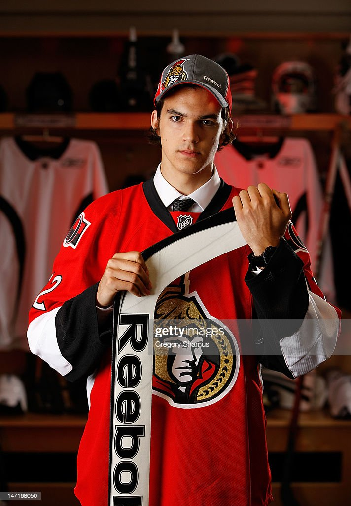 Francois Brassard, 166th overall pick by the Ottawa Senators, poses for a portrait during the 2012 NHL Entry Draft at Consol Energy Center on June 23, 2012 in Pittsburgh, Pennsylvania.