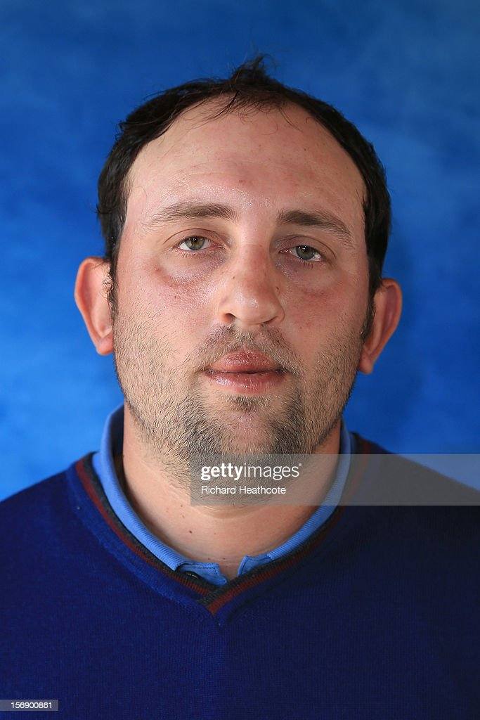 <a gi-track='captionPersonalityLinkClicked' href=/galleries/search?phrase=Francois+Calmels&family=editorial&specificpeople=4025126 ng-click='$event.stopPropagation()'>Francois Calmels</a> of France poses for a portrait after the first round of the European Tour Qualifying School Finals at PGA Catalunya Resort on November 24, 2012 in Girona, Spain.