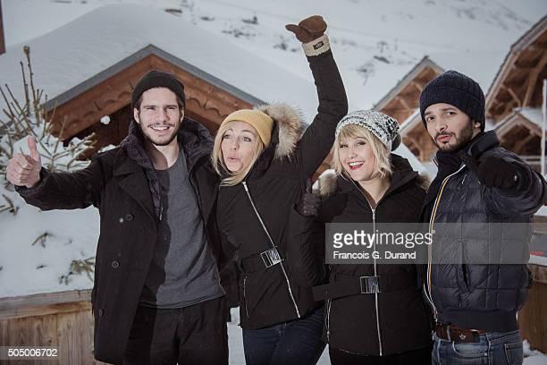 Francois Civil Amelie Etasse Berengere Krief and William Lebghil attend the 18th L'Alpe D'Huez International Comedy Film Festival on January 14 2016...