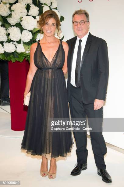 Francois Cluzet and his wife Narjiss Cluzet attend the 69th Monaco Red Cross Ball Gala at Sporting MonteCarlo on July 28 2017 in MonteCarlo Monaco