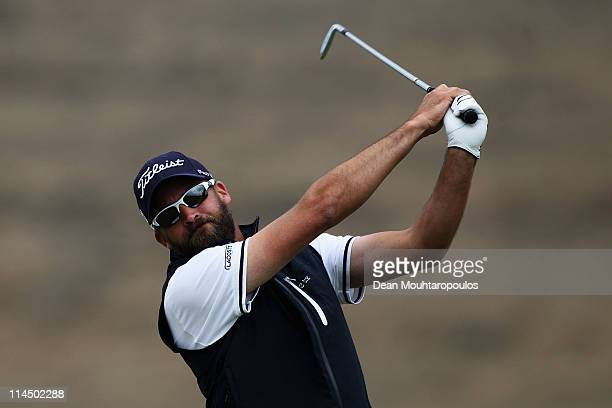 Francois Delamontagne of Fance hits his tee shot on the 17th hole during the final day of the Madeira Islands Open on May 22 2011 in Porto Santo...