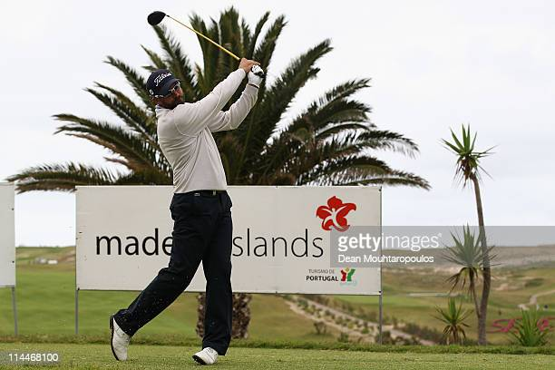 Francois Delamontagne of Fance hits his tee shot on the 1st hole during day two of the Madeira Islands Open on May 20 2011 in Porto Santo Island...