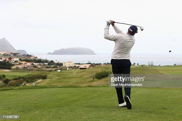Francois Delamontagne of Fance hits his tee shot on the 2nd hole during day two of the Madeira Islands Open on May 20 2011 in Porto Santo Island...
