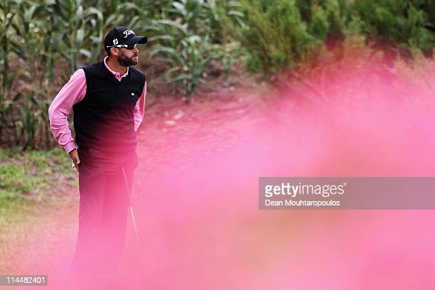 Francois Delamontagne of Fance looks on the 17th hole during day three of the Madeira Islands Open on May 21 2011 in Porto Santo Island Portugal
