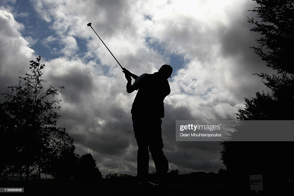 Francois Delamontagne of France hits his tee shot on the 13th hole during day one of the Saint Omer Open on June 16, 2011 in St Omer, France.
