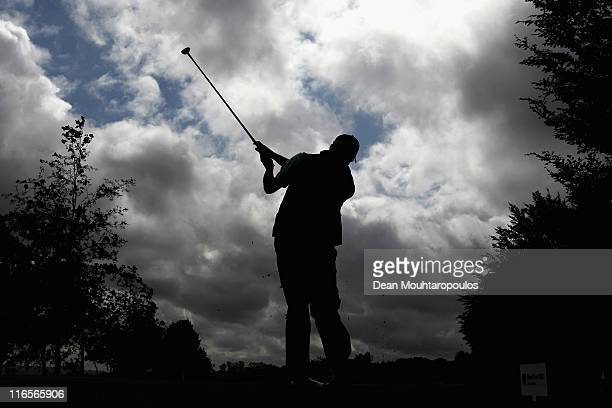 Francois Delamontagne of France hits his tee shot on the 13th hole during day one of the Saint Omer Open on June 16 2011 in St Omer France
