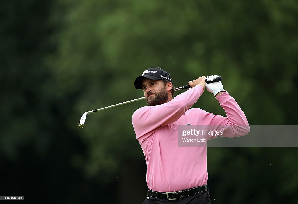 Francois Delamontagne of France in action during the first round of the English Challenge 2011 at The Stoke by Nayland Hotel Golf & Spa on July 21, 2011 in Stoke by Nayland, England.