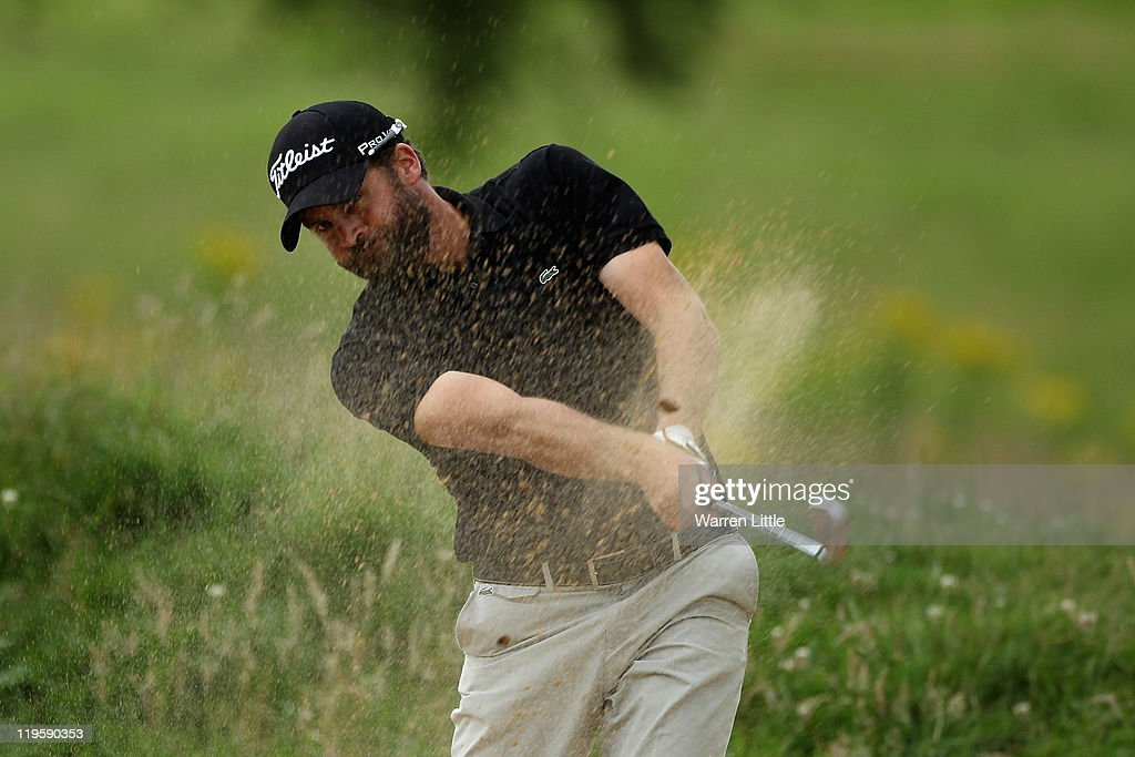 Francois Delamontagne of France in action during the second round of the English Challenge 2011 at The Stoke by Nayland Hotel Golf & Spa on July 21, 2011 in Stoke by Nayland, England.