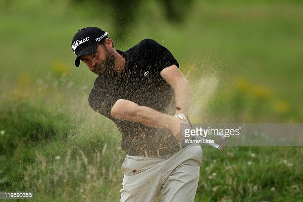 Francois Delamontagne of France in action during the second round of the English Challenge 2011 at The Stoke by Nayland Hotel Golf Spa on July 21...