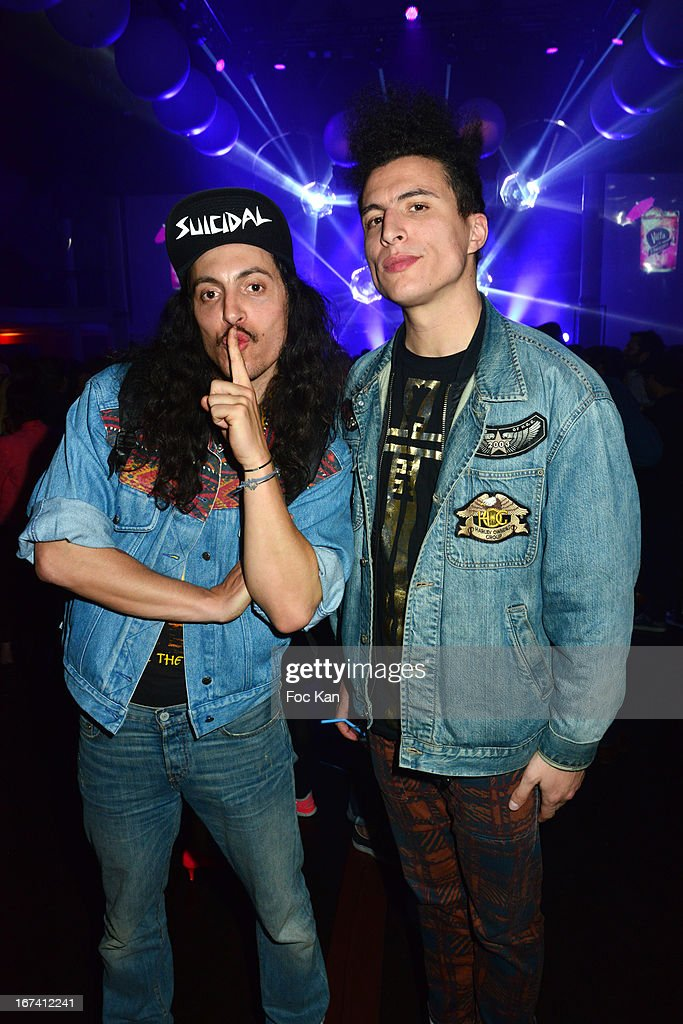 Francois Djemel and Laurent Idir from the Twin Twin band attend the Villa Schweppes Launch Party For Cannes Film Festival 2013 At Salle Wagram on April 24, 2013 in Paris, France.