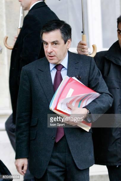 Francois FILLON conseil des Ministres Palais de l'Elysee