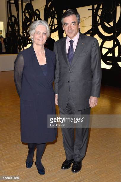 Francois Fillon and his wife Penelope attend the 'Societe des amis du Musee D'Art Moderne' Annual Dinner Held at Centre Pompidou on March 11 2014 in...