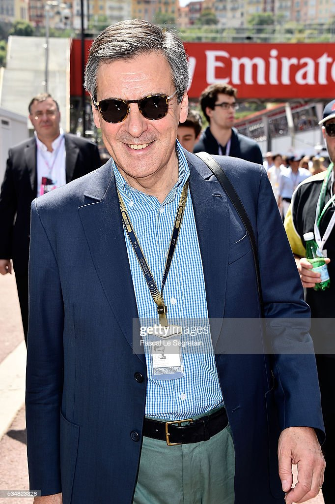 Francois Fillon attends the F1 Grand Prix of Monaco - Practice on May 28, 2016 in Monte-Carlo, Monaco.