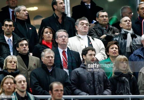 Francois FILLON / Bernard LAPASSET / Roselyne BACHELOT France / Angleterre Tournoi des 6 Nations 2008 Stade de France