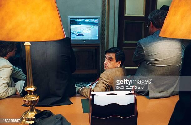Days Of Debate On The Bill Of Pensions At The National Assembly François FILLON ministre des Affaires sociales regardant le départ des 24 heures du...