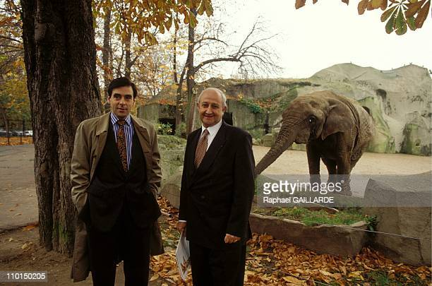 Francois Fillon Henry de Lumley Director of the Prehistory Laboratory of the National Museum of Natural History at The Zoo de Vincennes in Paris...