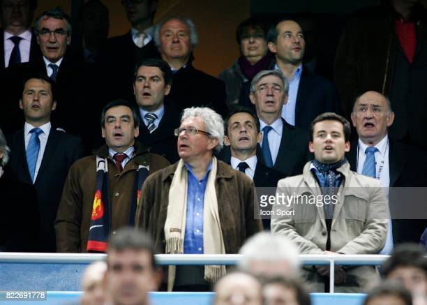 Francois FILLON / Nicolas SARKOZY France / Angleterre Tournoi des 6 Nations Stade de France