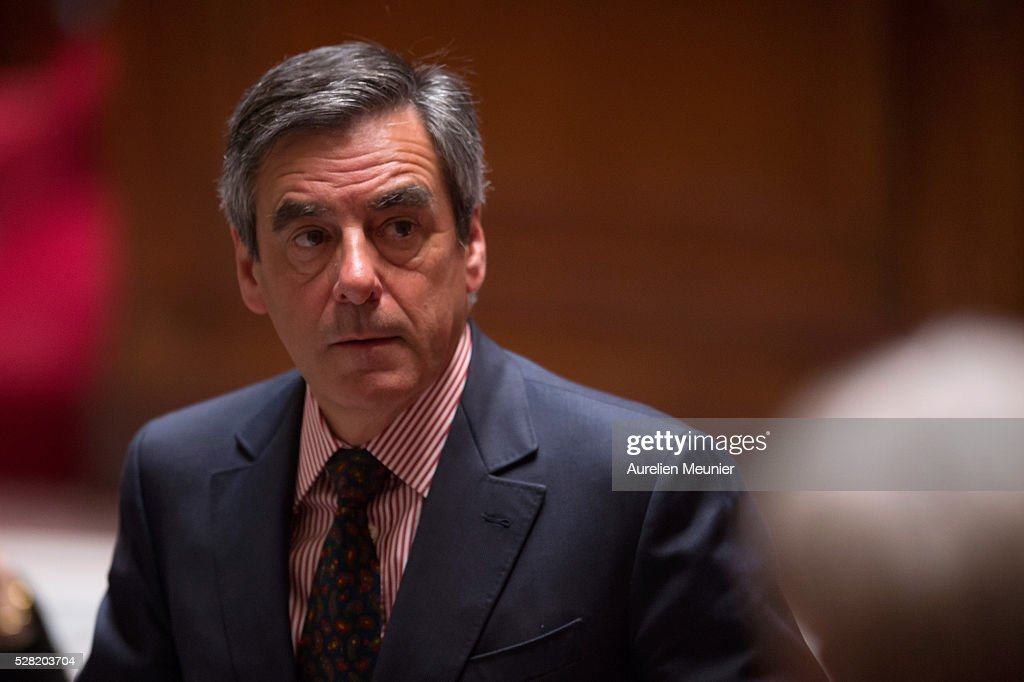 Francois Fillon, Paris Deputy, reacts during the weekly questions to the gouvernment at French National Assembly on May 04, 2016 in Paris, France.