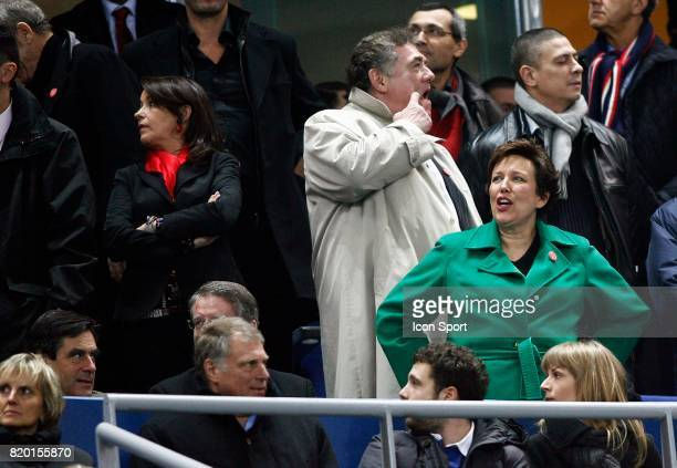 Francois FILLON / Roselyne BACHELOT en tribune France / Angleterre Tournoi des 6 Nations 2008 Stade de France