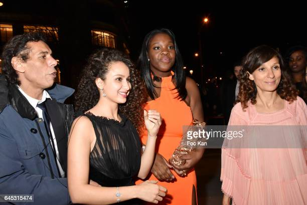 PR Francois Hassan Guerrar Oulaya Amamra Deborah Lukumuena and Houda Benyamina attend the Cesar's Dinner at Le Fouquet's on February 24 2017 in Paris...