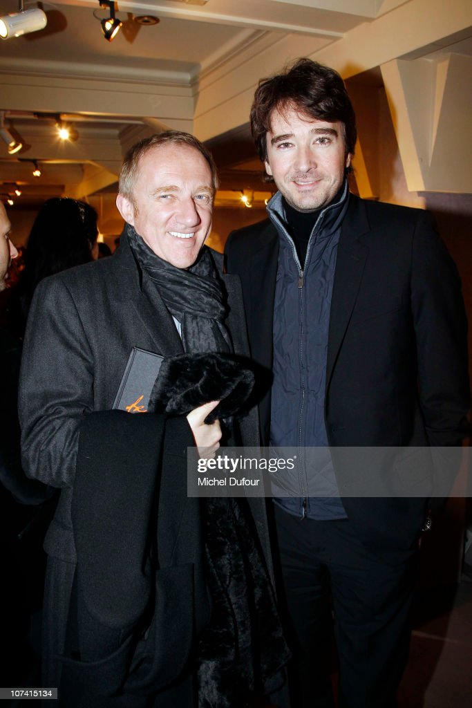 Francois Henri Pinault and <a gi-track='captionPersonalityLinkClicked' href=/galleries/search?phrase=Antoine+Arnault&family=editorial&specificpeople=676045 ng-click='$event.stopPropagation()'>Antoine Arnault</a> attend the 'Frimousses de Createurs' Auction 2010 on December 7, 2010 in Paris, France.