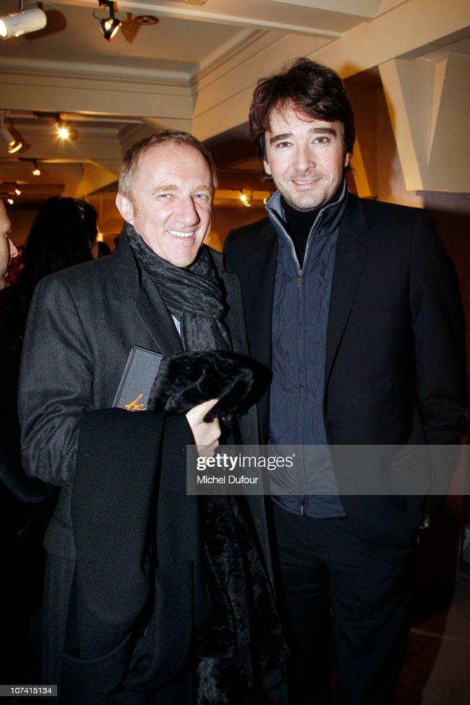Francois Henri Pinault and Antoine Arnault attend the 'Frimousses de Createurs' Auction 2010 on December 7 2010 in Paris France