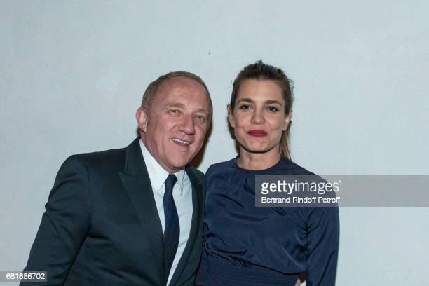 Francois Henri Pinault and Charlotte Casiraghi attend the Cini party during the 57th International Art Biennale on May 10 2017 in Venice Italy