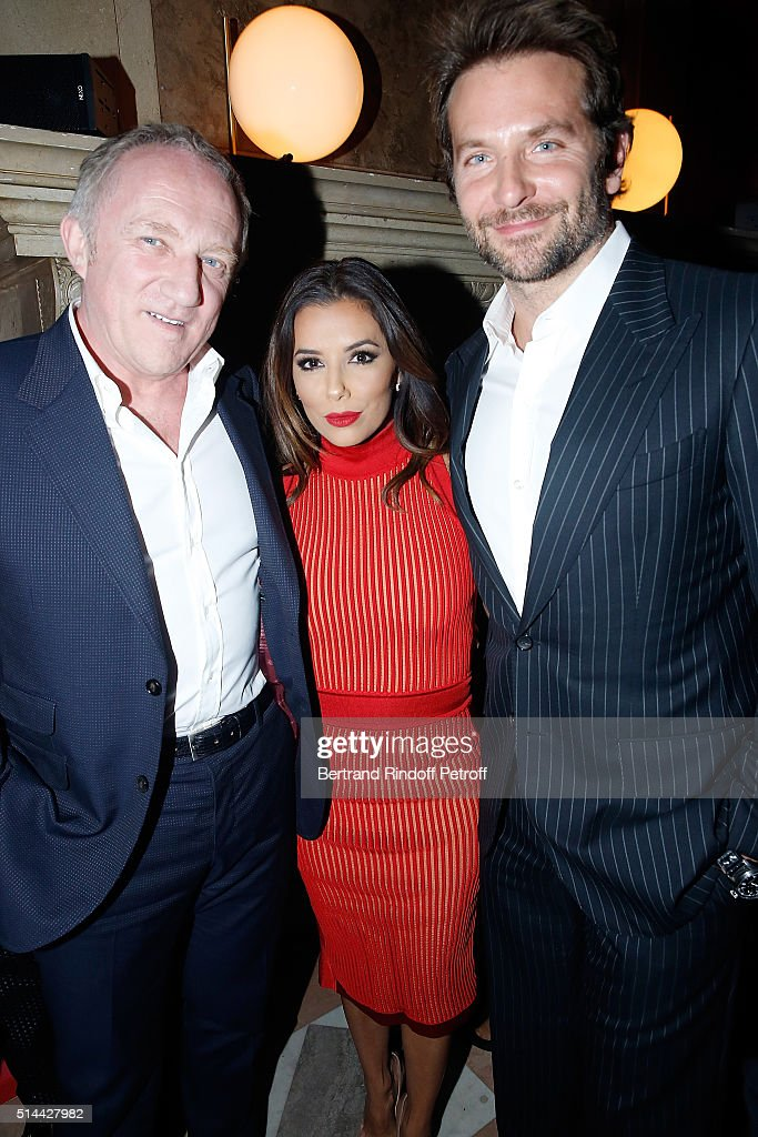 Francois Henri Pinault Eva Longoria and Bradley Cooper attend the L'Oreal Red Obsession Party as part of the Paris Fashion Week Womenswear...