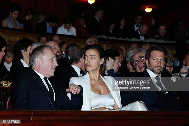 Francois Henri Pinault Irina Shayk and Bradley Cooper attend the Arop Charity Gala At the Opera Garnier under the auspices of Madam Maryvonne Pinault...