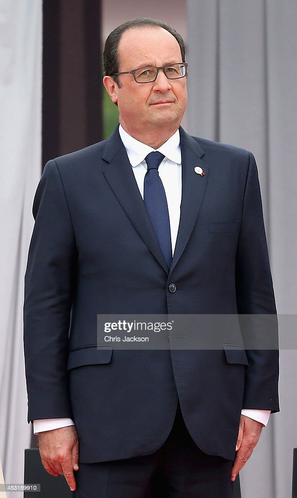 Francois Hollande attends a WW1 100 Years Commomoration Ceremony at Le Memorial Interallie on August 4, 2014 in Liege, Belgium. Monday 4th August marks the 100th Anniversary of Great Britain declaring war on Germany. In 1914 British Prime Minister Herbert Asquith announced at 11pm that Britain was to enter the war after Germany had violated Belgium's neutrality. The First World War or the Great War lasted until 11 November 1918 and is recognised as one of the deadliest historical conflicts with millions of casualties. A series of events commemorating the 100th Anniversary are taking place throughout the day.