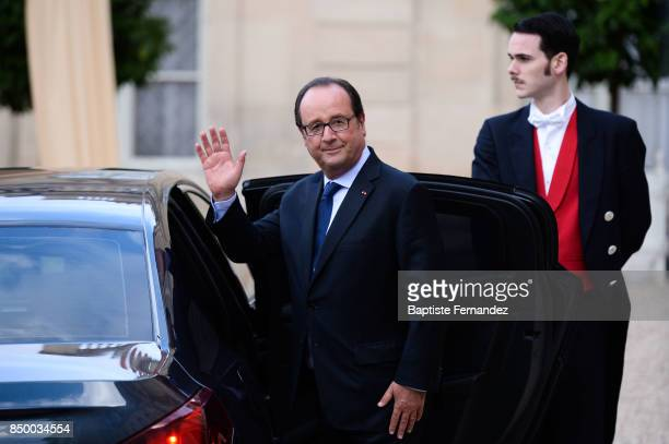 Francois Hollande during the reception of the CIO by the French President at Elysee Palais on September 15 2017 in Paris France