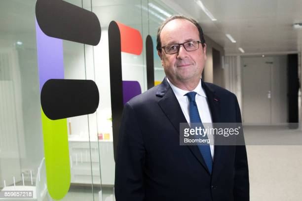 Francois Hollande France's former president poses for a photograph in the offices of nonprofit foundation 'La France sengage' meaning 'France...