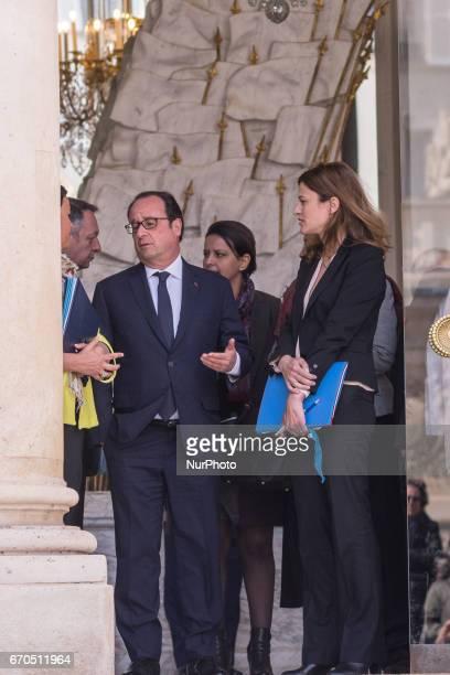 Francois Hollande in Paris France on April 19 2017