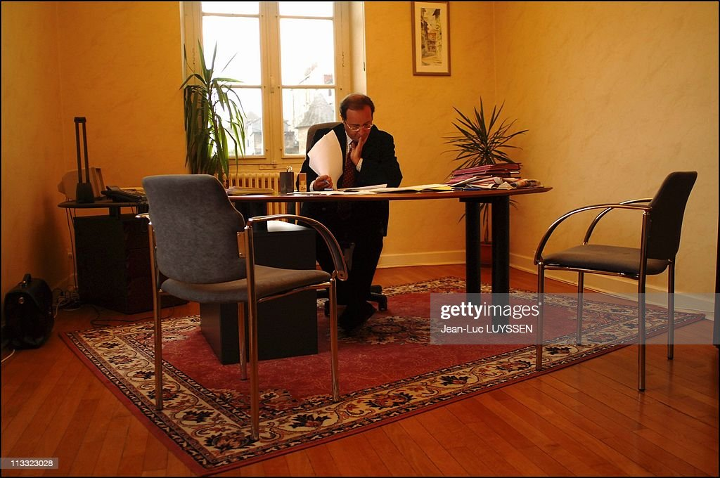 Francois Hollande In Tulle On November 4Th 2005 In Tulle France Here In His Office At The City Hall Of Tulle