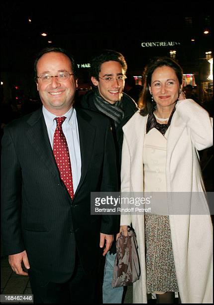 Francois Hollande Segolene Royal and son Thomas at Film Premiere Of 'L'Un Reste L'Autre Part' '