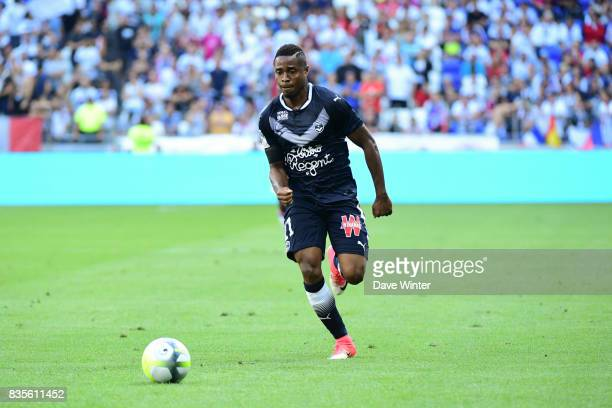 Francois Kamano of Bordeaux during the Ligue 1 match between Olympique Lyonnais and FC Girondins de Bordeaux at Groupama Stadium on August 19 2017 in...