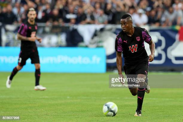 Francois Kamano of Bordeaux in action during the UEFA Europa League qualifying match between Bordeaux and Videoton at Stade Matmut Atlantique on July...