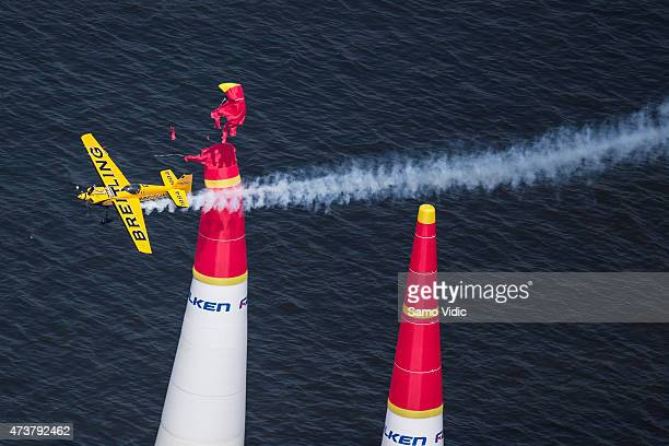 Francois Le Vot of France competes during of the second stage of the Red Bull Air Race World Championship on May 17 2015 in Chiba Japan