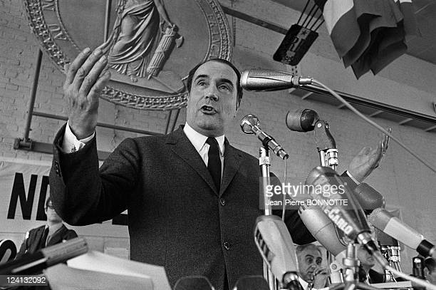 Francois Mitterand at Conference of Socialist party In Saint Gratien France On May 04 1969 Francois Mitterrand