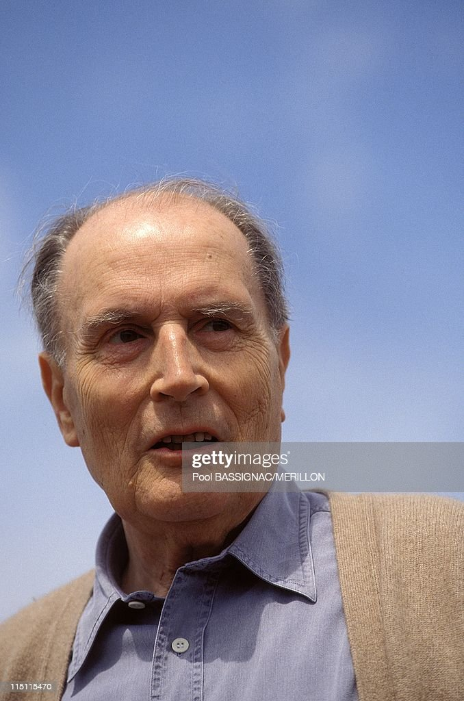<a gi-track='captionPersonalityLinkClicked' href=/galleries/search?phrase=Francois+Mitterrand&family=editorial&specificpeople=208938 ng-click='$event.stopPropagation()'>Francois Mitterrand</a> in Solutre, France on May 30, 1993.