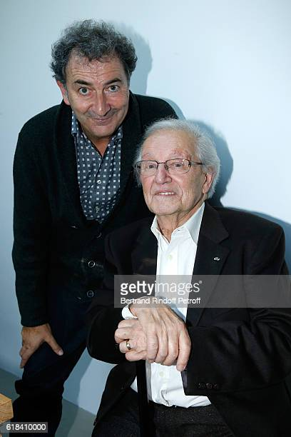 Francois Morel and Fred Mella attend the Brassens Behind the Scenes and Press Junket on October 17 2016 in Paris France