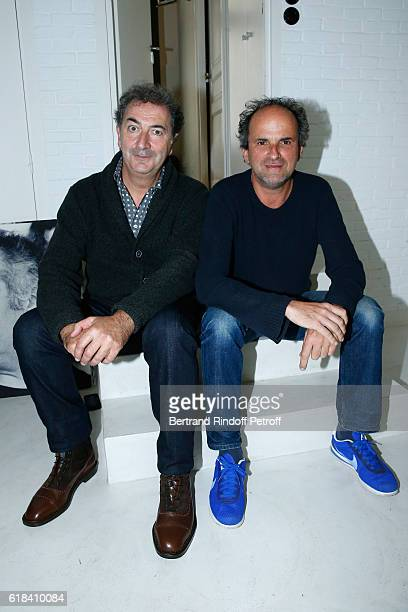 Francois Morel and Lionel Abelanski attend the Brassens Behind the Scenes and Press Junket on October 17 2016 in Paris France