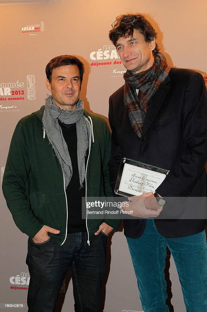 <a gi-track='captionPersonalityLinkClicked' href=/galleries/search?phrase=Francois+Ozon&family=editorial&specificpeople=615693 ng-click='$event.stopPropagation()'>Francois Ozon</a> and Eric Altmayer attend the Cesar 2013 nominne lunch at Le Fouquet's on February 2, 2013 in Paris, France.