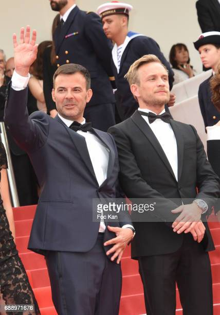 Francois Ozon AND jeremie Renier attend 'Amant Double ' Red Carpet Arrivals during the 70th annual Cannes Film Festival at Palais des Festivals on...